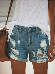 Fashion High Rise Loose Short Jeans