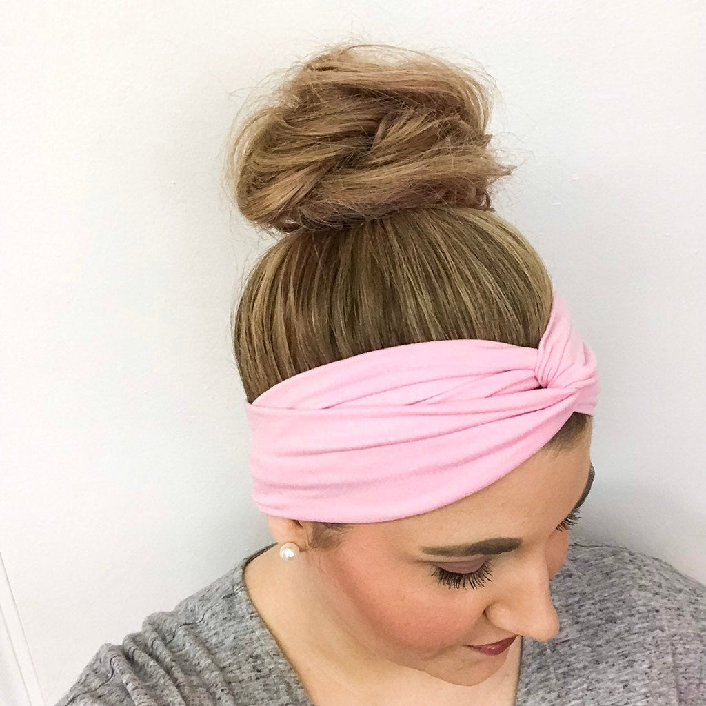 Bubble Gum Pink Turban Headband for Women