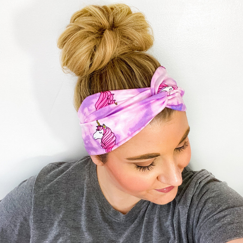 Tie Dye Unicorn Turban Headband