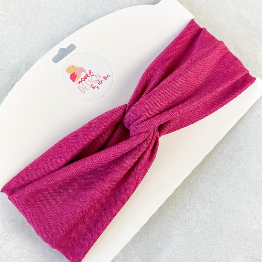 Raspberry Twist Turban Headband