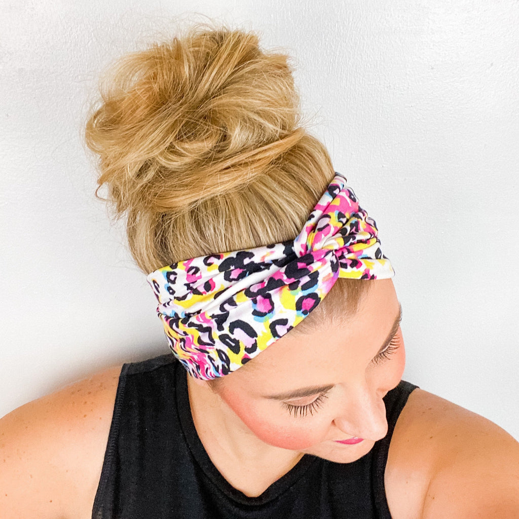 Bright Leopard Turban Headband