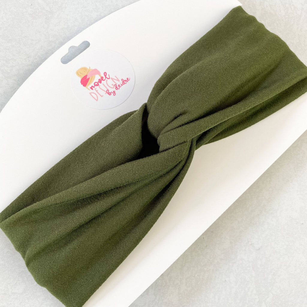 Olive Green Turban Headband