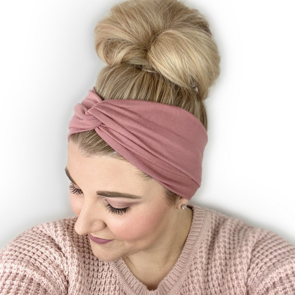 Mauve Turban Headband