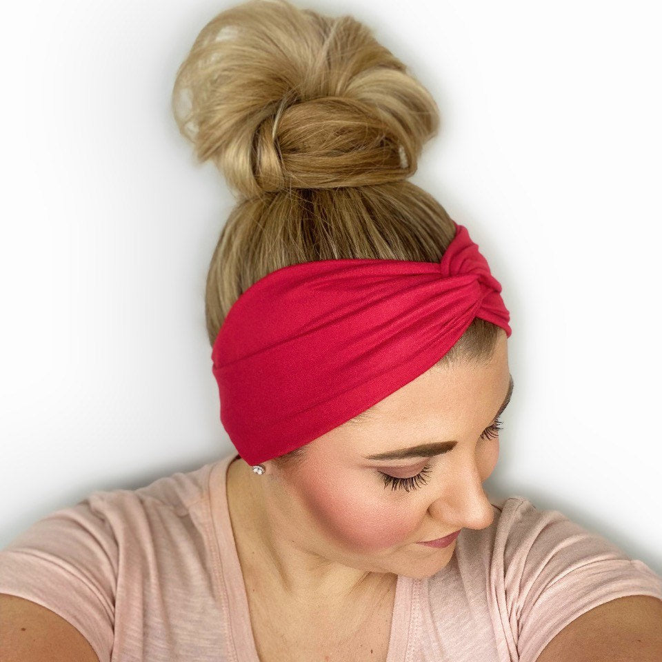 Red Twist Turban Headband