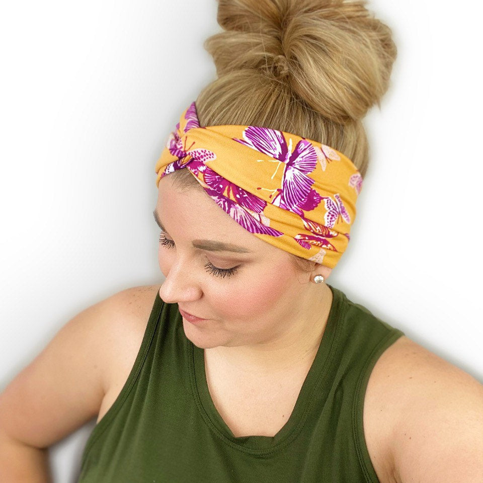Butterfly Twisted Turban Headband