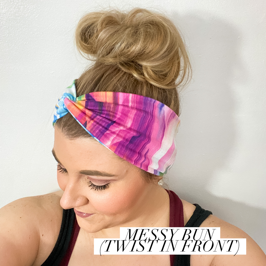 Tie Dye Unicorn WIDE Headband