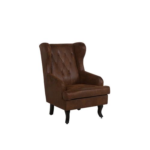 Teukai Faux Leather Wingback Chair. Shop Simple.furniture.