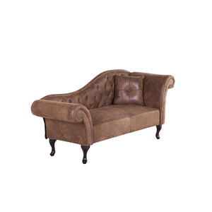 Rare Faux Suede Chaise Longue. Shop Simple.furniture.