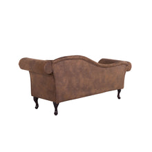 Load image into Gallery viewer, Rare Faux Suede Chaise Longue. Shop Simple.furniture.