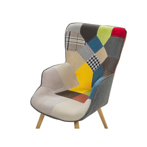 Grant Wingback Chair With Footstool