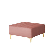 Load image into Gallery viewer, Northwood Velvet Ottoman. Shop Simple.furniture.