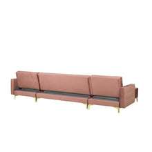 Load image into Gallery viewer, Northwood Velvet 5 Seater U Shaped Modular Sofa