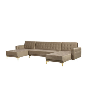 Northwood Velvet 5 Seater U Shaped Modular Sofa