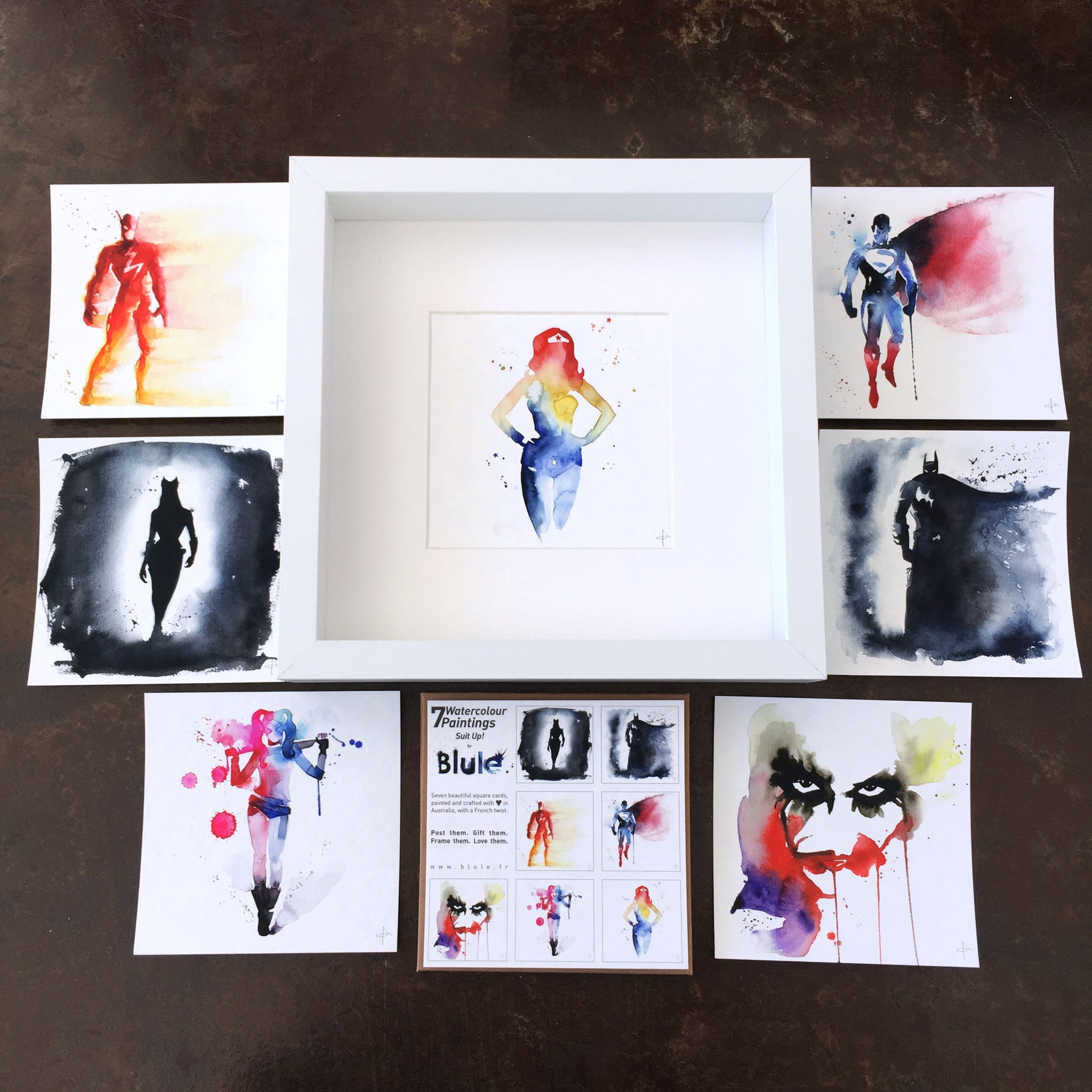 7 Watercolour Cards Paintings