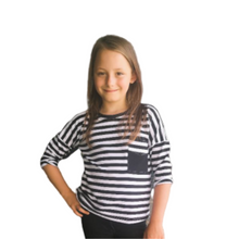 Load image into Gallery viewer, OJ TAM LITTLE - Striped Blouse
