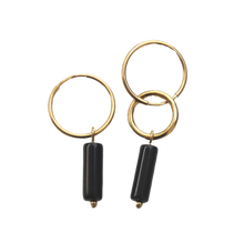 Load image into Gallery viewer, EVA JEWELLERY - Iro Gold Plated Wheels With Onyx