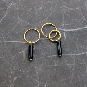 EVA JEWELLERY - Iro Gold Plated Wheels With Onyx