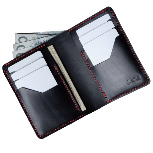 WILDLEATHER - Leather Wallet with a Driving Licence Pocket (2) - Yuugen Store
