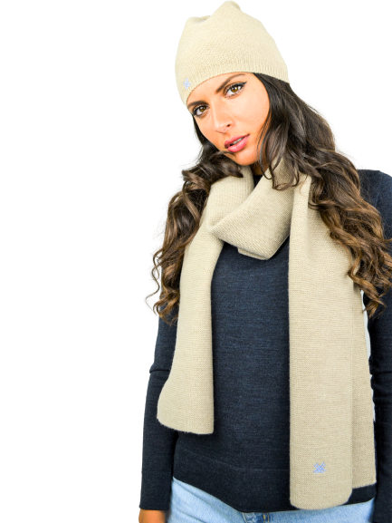 FORTUNALE - DEGA Wool Hat & Scarf Set