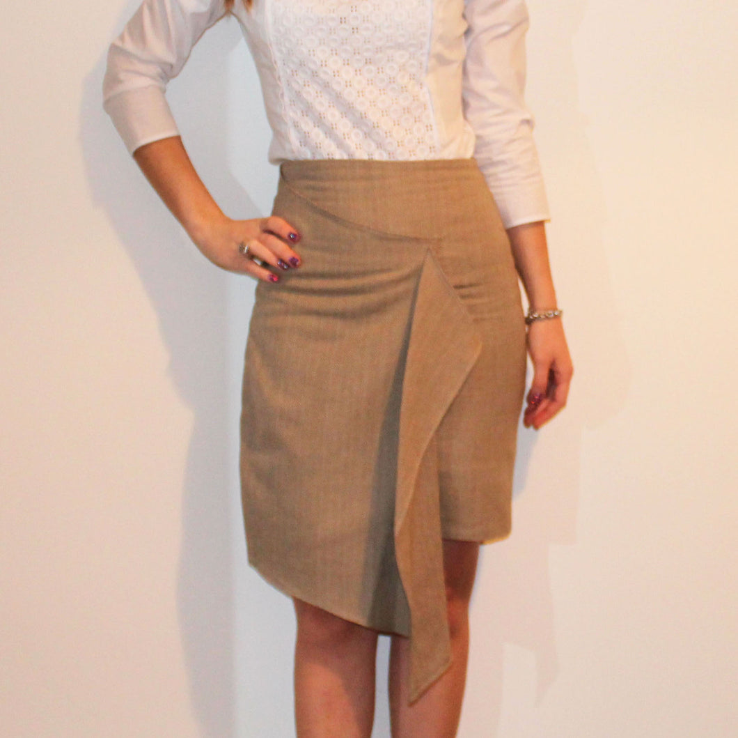 RADINA RADEVA - Draped Pencil Skirt