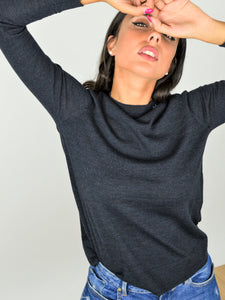FORTUNALE - BETA Woman's Wool Sweater / Navy