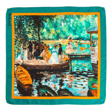 Load image into Gallery viewer, BELLEART - Pocket square / Auguste Renoir – La Grenouillère - Yuugen Store