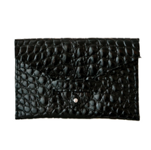 Load image into Gallery viewer, NASHE - Card Holder / Black Crocodile Print