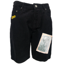 Load image into Gallery viewer, EXPRIMERE_TE - Vintage Corduroy Shorts in Black