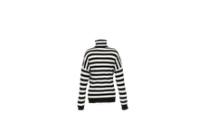 Load image into Gallery viewer, ANNA CASHMERE - Striped Turtleneck / White Black
