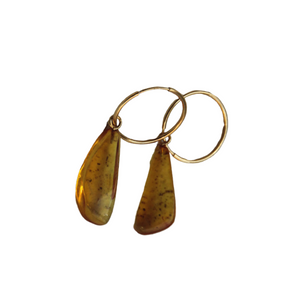 EVA JEWELLERY - Unique Amber Earrings 3
