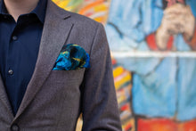 Load image into Gallery viewer, BELLEART- Pocket square / Vincent van Gogh – Starry Night Over the Rhône - Yuugen Store
