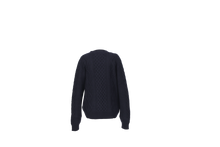 Load image into Gallery viewer, ANNA CASHMERE - Navy Buttoned Cardigan