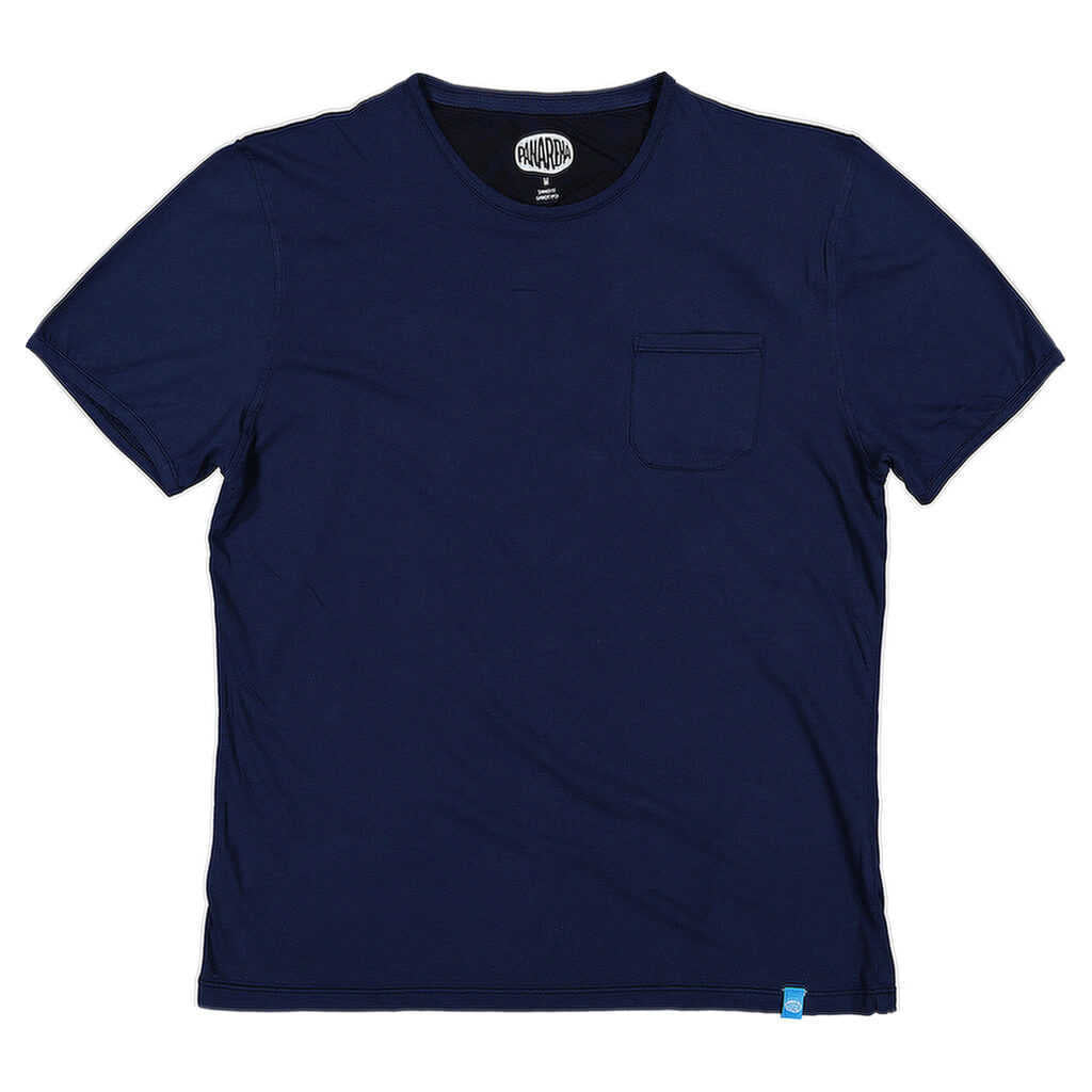 PANAREHA - MARGARITA Pocket T-shirt / Navy