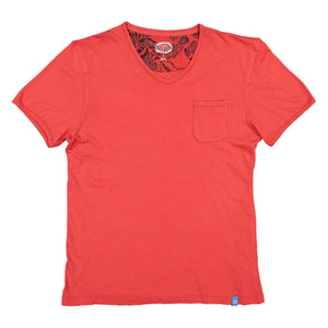 PANAREHA - MOJITO V-neck T-shirt / Light Red