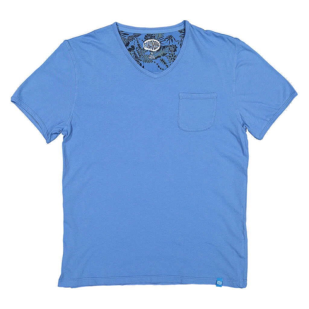 PANAREHA - MOJITO V-neck T-shirt / Blue