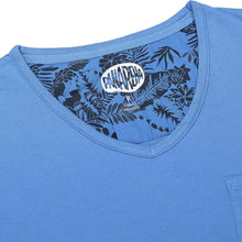 Load image into Gallery viewer, PANAREHA - MOJITO V-neck T-shirt / Blue