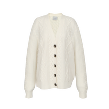Load image into Gallery viewer, ANNA Cashmere - White Buttoned Cardigan