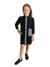 Load image into Gallery viewer, OJ TAM LITTLE - Shirt Dress / Black