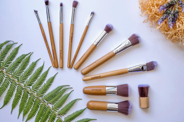 EcoShack Bamboo Make Up Brush Set - EcoShackNZ