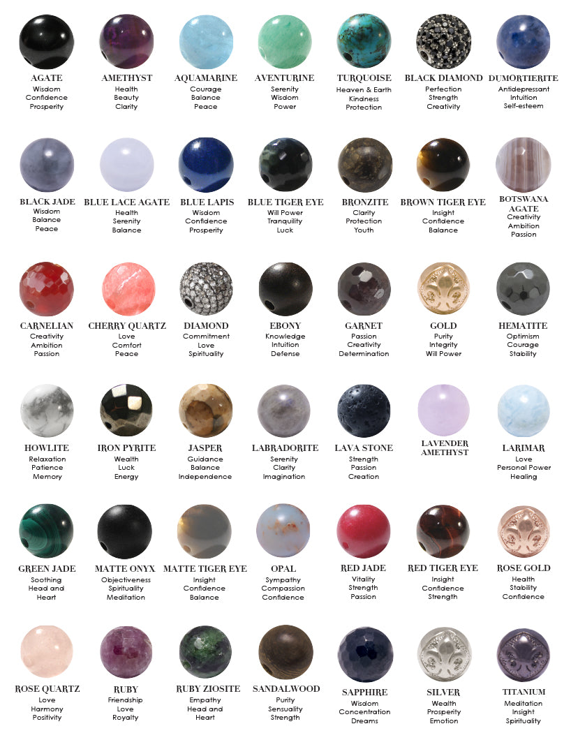 Healing power of stones nialaya jewelry for Crystals and their meaning with pictures