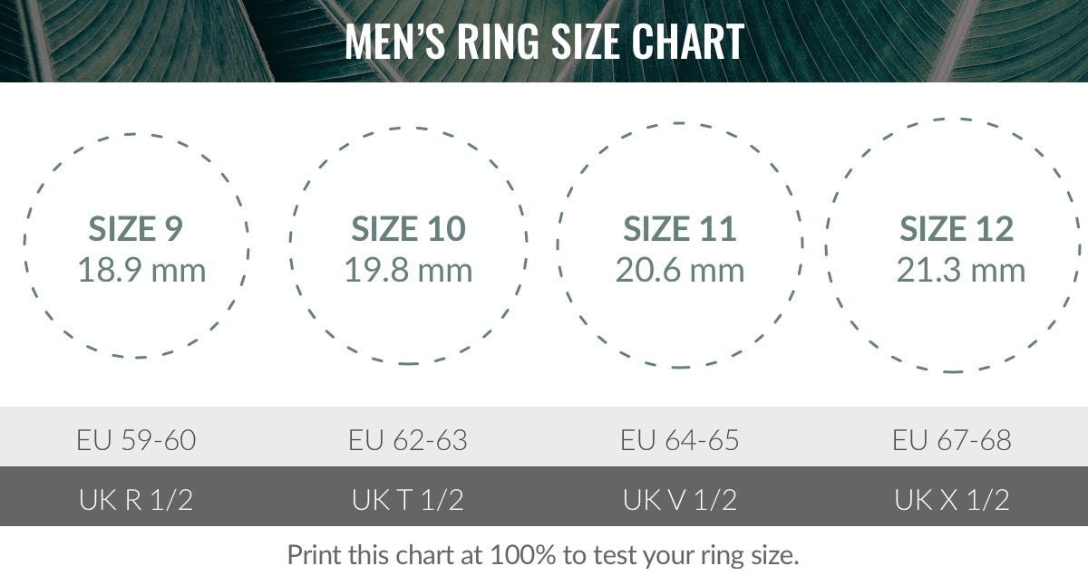 photograph regarding Printable Mens Ring Size Chart identified as Dimensions Chart. Nialaya Jewellery