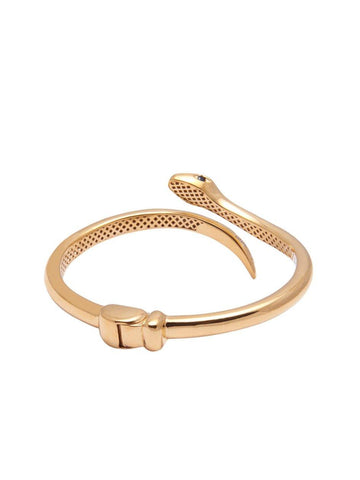 Women's Gold Snake Bangle - Nialaya Jewelry  - 4