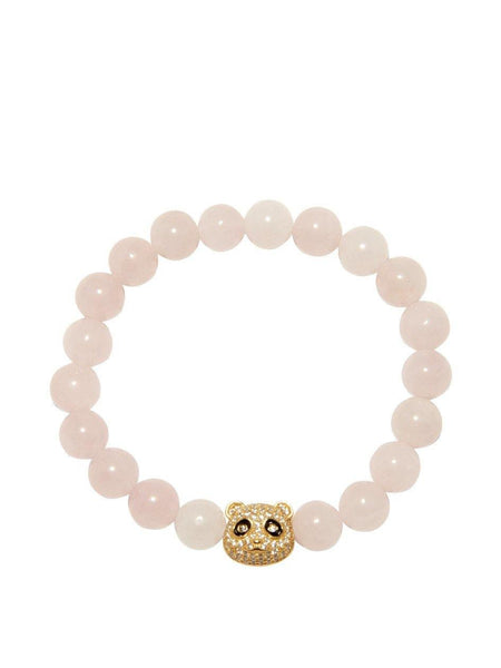 Rose Quartz with White CZ - Nialaya Jewelry