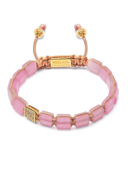 Women's Mini Flatbead Collection - Rose Quartz and Gold