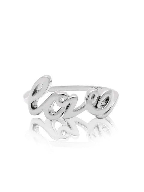 Love Ring Silver - Nialaya Jewelry