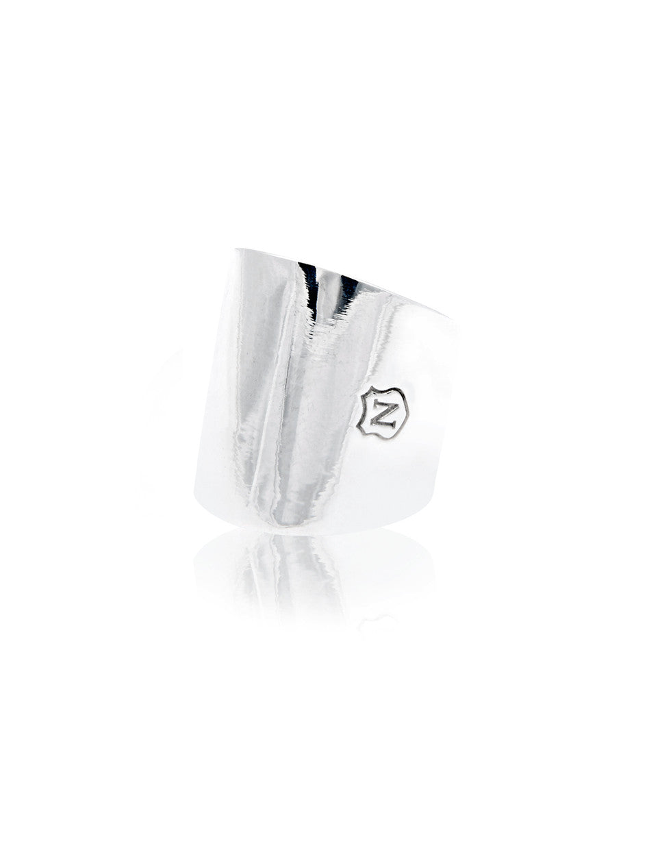 Tube Ring in Silver - Nialaya Jewelry  - 1