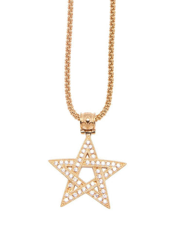 Star Necklace with 18K Gold Plating