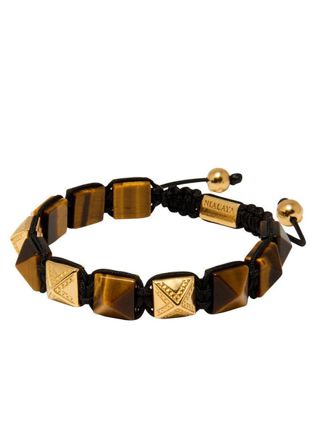 Men's Himalaya Collection - Brown Tiger Eye and Gold - Nialaya Jewelry  - 3