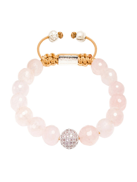 CZ Diamond & Rose Quartz - Nialaya Jewelry  - 1