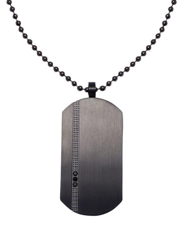 Men's Necklace with Titanium Dog Tag